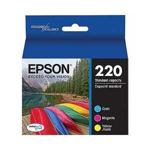 Multipack - Epson 220 genuine OEM ink cartridges - T220520 - 3 pack
