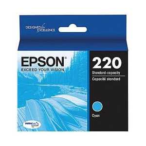 Original Epson 220 Cyan ink cartridge, T220220