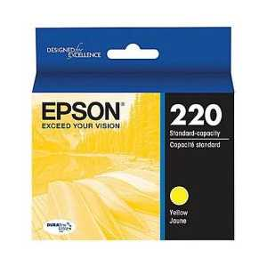 Original Epson 220 Yellow ink cartridge, T220420