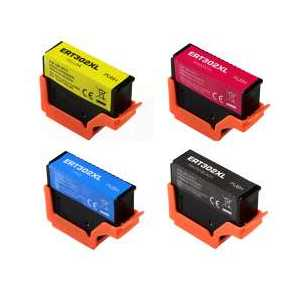 Remanufactured Epson 302XL ink cartridges, 4 pack