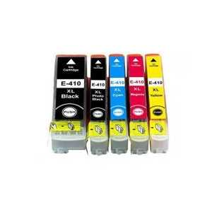 Remanufactured Epson 410XL ink cartridges, 5 pack