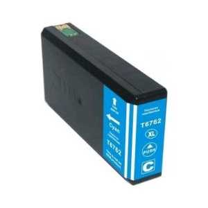 Remanufactured Epson 676XL Cyan ink cartridge, High Capacity, T676XL220