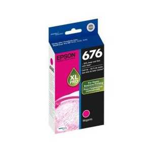 Original Epson 676XL Magenta ink cartridge, T676XL320