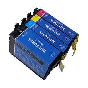 Remanufactured Epson 702XL ink cartridges, 4 pack