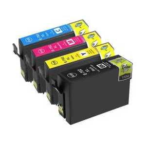 Remanufactured Epson 702XL ink cartridges, 5 pack