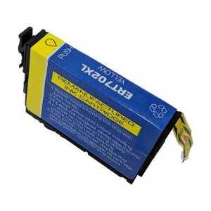 Remanufactured Epson 702XL Yellow ink cartridge, High Capacity, T702XL420