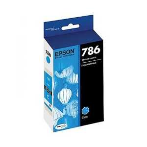 Original Epson 786 Cyan ink cartridge, T786220