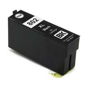 Remanufactured Epson 802XL Black ink cartridge, High Capacity, T802XL120