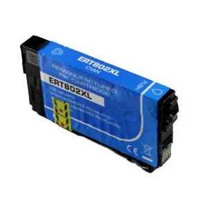 Remanufactured Epson 802XL Cyan ink cartridge, High Capacity, T802XL220