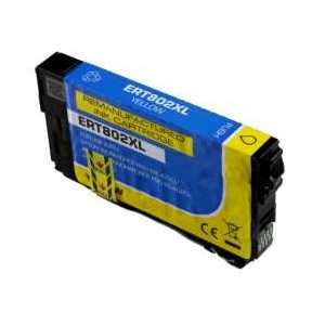 Remanufactured Epson 802XL Yellow ink cartridge, High Capacity, T802XL420