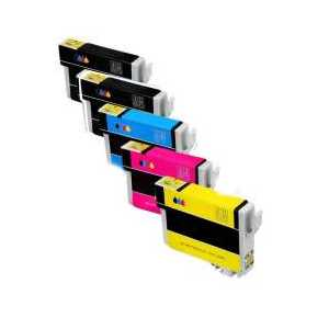 Remanufactured Epson 822XL ink cartridges, 5 pack