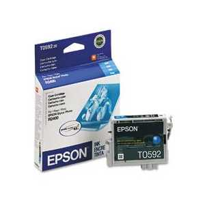Epson T0592 Cyan genuine OEM ink cartridge - T059220