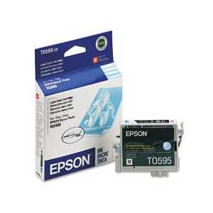 Epson T0595 Light Cyan genuine OEM ink cartridge - T059520