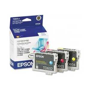 Multipack - Epson 60 genuine OEM ink cartridges - T060520 - 3 pack