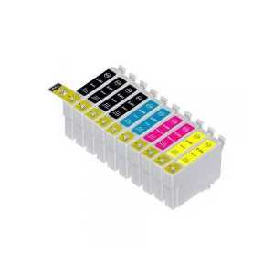 Multipack - Epson 69 remanufactured ink cartridges - 10 pack