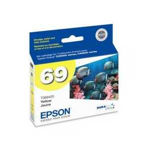 Original Epson 69 Yellow ink cartridge, T069420