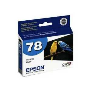 Original Epson 78 Cyan ink cartridge, T078220