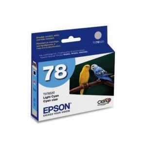 Original Epson 78 Light Cyan ink cartridge, T078520