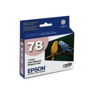 Original Epson 78 Light Magenta ink cartridge, T078620