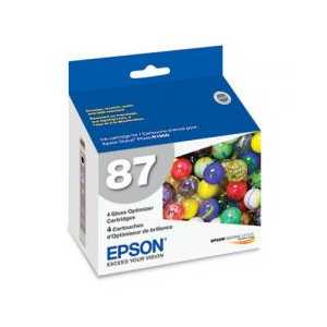 Original Epson 87 Gloss Optimizer ink cartridge, T087020