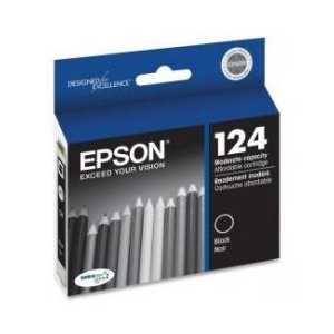Original Epson 124 Black ink cartridge, T124120