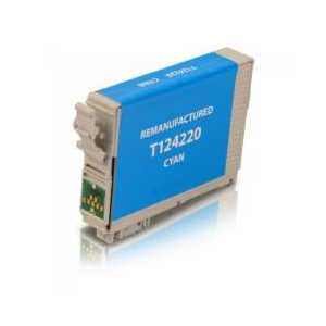 Remanufactured Epson 124 Cyan ink cartridge, T124220