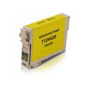Remanufactured Epson 124 Yellow ink cartridge, T124420