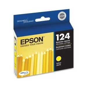Original Epson 124 Yellow ink cartridge, T124420