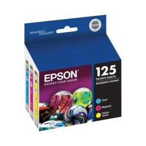 Multipack - Epson 125 genuine OEM ink cartridges - T125520 - 3 pack