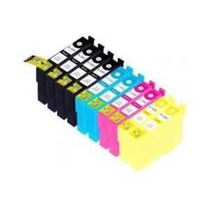 Multipack - Epson 125 remanufactured ink cartridges - 10 pack