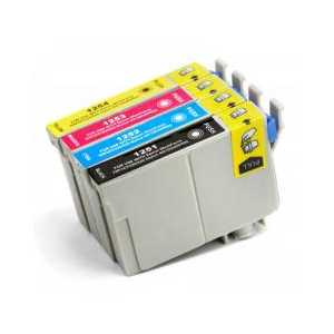 Remanufactured Epson 125 ink cartridges, 4 pack