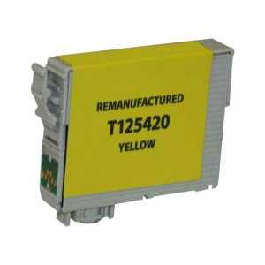 Remanufactured Epson 125 Yellow ink cartridge, T125420