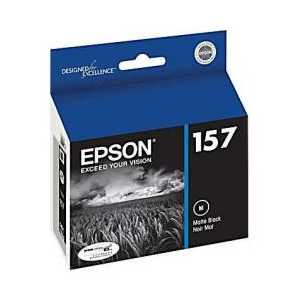 Epson 157 Matte Black genuine OEM ink cartridge - T157820