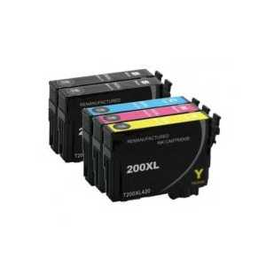 Remanufactured Epson 200XL ink cartridges, 5 pack