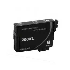 Remanufactured Epson 200XL Black ink cartridge, High Capacity, T200XL120