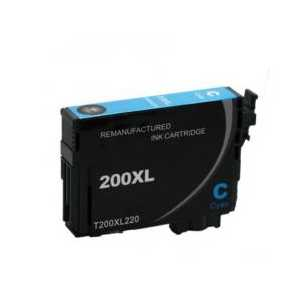 Remanufactured Epson 200XL Cyan ink cartridge, High Capacity, T200XL220