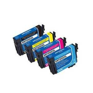 Remanufactured Epson 202XL ink cartridges, 4 pack