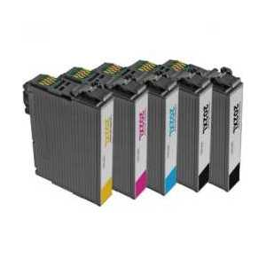 Remanufactured Epson 202XL ink cartridges, 5 pack