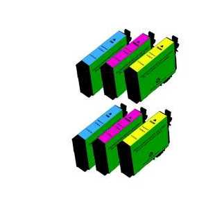 Remanufactured Epson 252XL ink cartridges, 6 pack