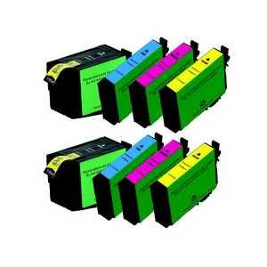 Remanufactured Epson 252XL ink cartridges, 8 pack