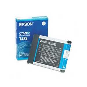 Epson T483 Cyan genuine OEM ink cartridge - T483011