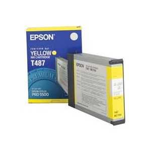 Epson T487 Yellow genuine OEM ink cartridge - T487011