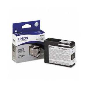 Epson T5801 Photo Black genuine OEM ink cartridge - T580100