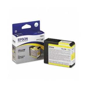 Original Epson T580400 Yellow ink cartridge