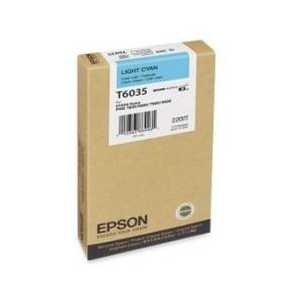 Original Epson T603500 Light Cyan ink cartridge