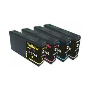 Multipack - Epson 676XL remanufactured ink cartridges - 4 pack
