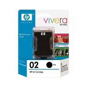 Original HP 02 Black ink cartridge, C8721WN