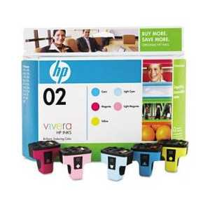 Multipack - HP 02 genuine OEM ink cartridges - CC604FN - 5 pack