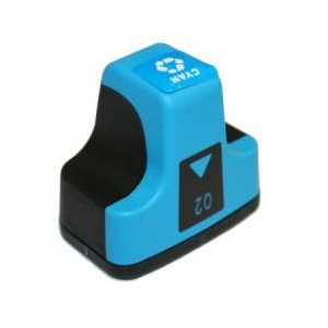Remanufactured HP 02 Cyan ink cartridge, C8771WN