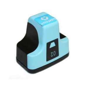 Remanufactured HP 02 Light Cyan ink cartridge, C8774WN